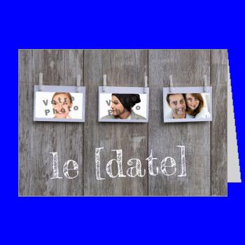 invitation etiquette faire part mariage bois marron