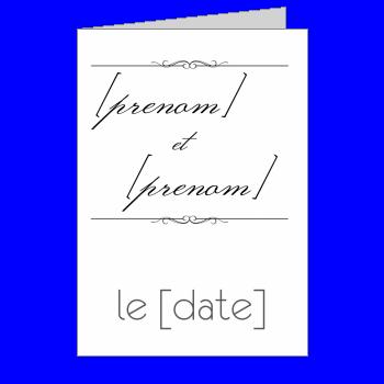 invitation faire part mariage blanc elegant