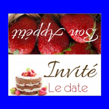 etiquette marque place table fruit gateau chocolat rouge
