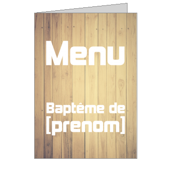 menu bapteme bois marron