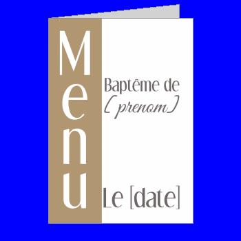 menu bapteme table marron