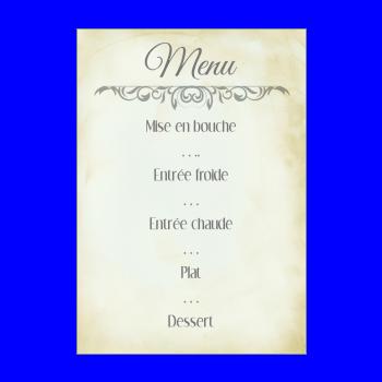 menu bapteme lettre jaune