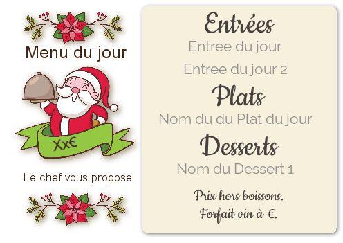 Carte Menu Restaurant Noel Dessin Pere Gratuit A Imprimer Carte 3008