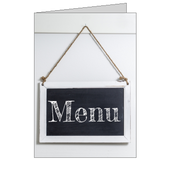 mariage menu noir gris ardoise