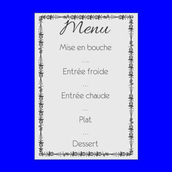 mariage menu gris