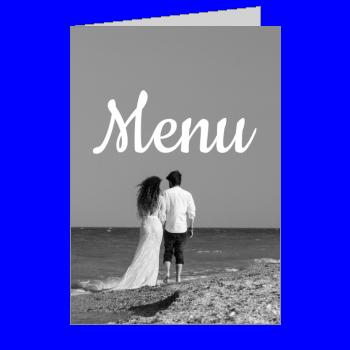 mariage menu plage noir blanc gris homme femme