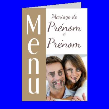 mariage menu marron