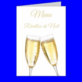 menu repas champagne noel jaune alcool
