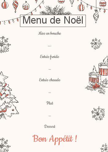 Carte De Menu De Noel A Telecharger Gratuitement Designcivique