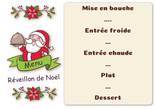 Menu Repas Noel Dessin Pere Noel Gratuit à Imprimer Carte 2634