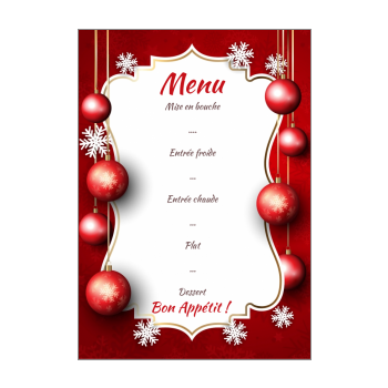 Menu Simple Repas De Noel.Menu De Noel A Imprimer
