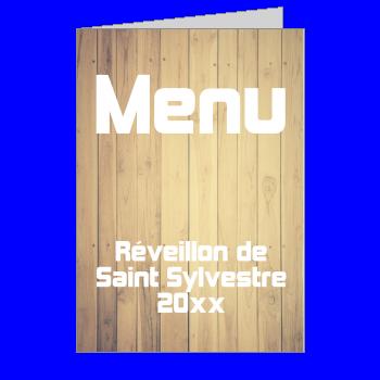 menu nouvel an repas soiree bois marron