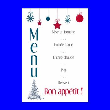 Menu De Nouvel An à Imprimer Gratuit