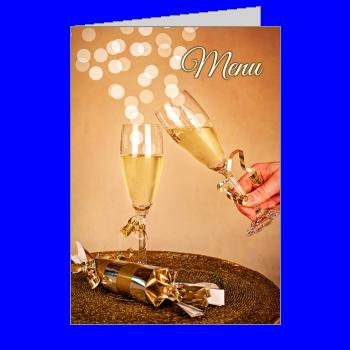menu nouvel an repas champagne soiree orange