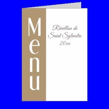 menu nouvel an repas soiree marron