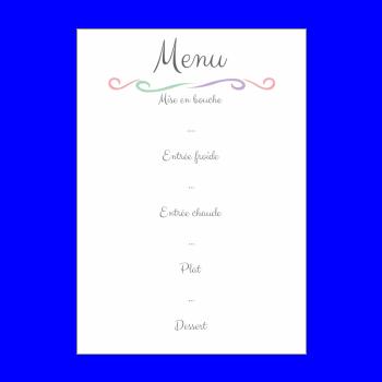 menu nouvel an repas soiree blanc elegant