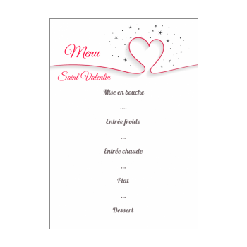 Menu De Saint Valentin A Imprimer Gratuit