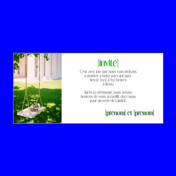 carte invitation faire part pacs jardin vert