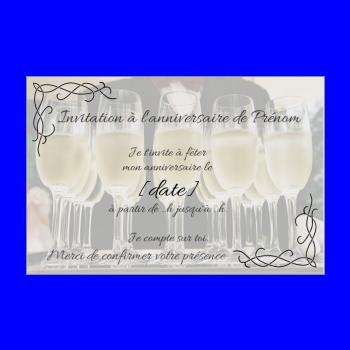 Extraordinaire Carte d'invitation à un anniversaire adulte à imprimer gratuit ZU-86
